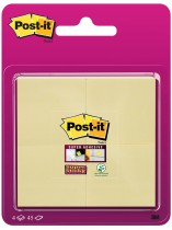 Post-it Super Sticky Blister 4 bloc