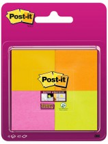 Post-it Super Sticky Blister 4 blocs 4 colores