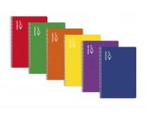 libreta A4 pauta 3,5 margen escolofi tapa dura 80 hojas cuaderno espiral material escolar de colegio